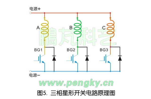 驱动器开关晶体管与励磁线圈连接图
