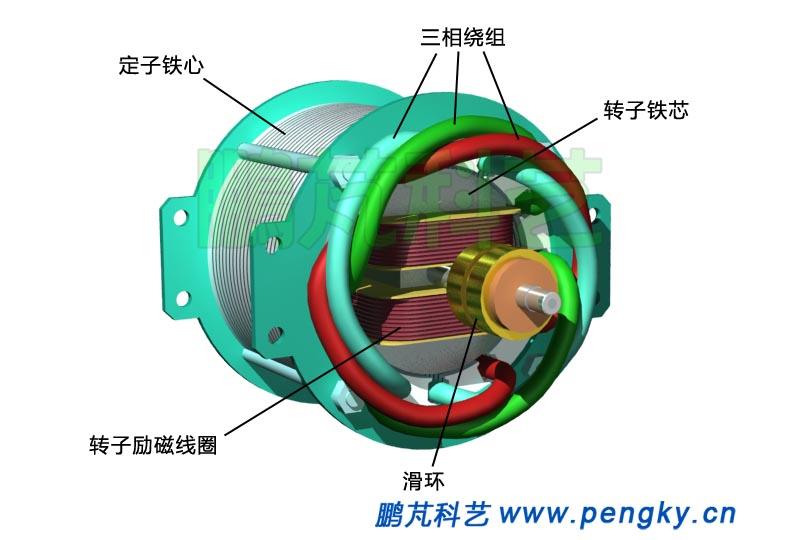 定子与转子-发电机模型