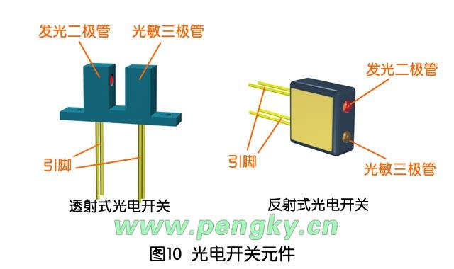 最简单的光敏二极管电路开关图