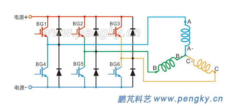 永磁电机三相驱动电路图