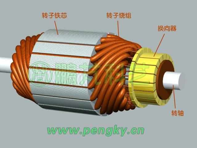 永磁直流电机转子-永磁直流电机图片